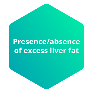 Presence/absence of excess liver fat