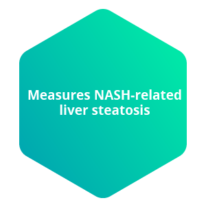 Measures NASH-related liver statosis