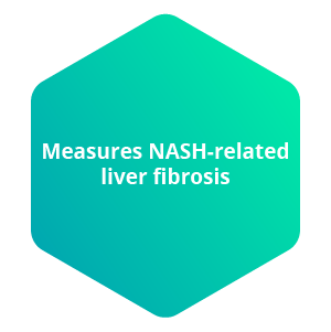 Measures NASH-related liver fibrosis