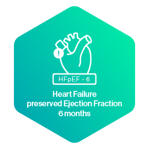 Heart Failure preserved Ejection Fraction 6 months